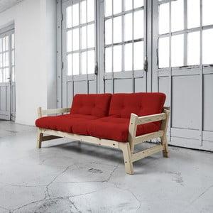 Sofa rozkładana Karup Step Natural/Red