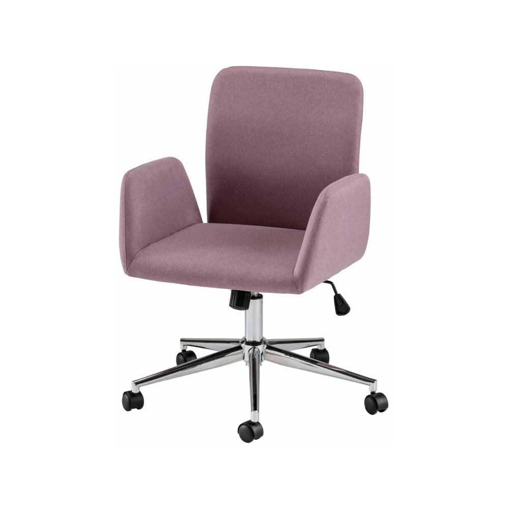 Różowe krzesło biurowe na kółkach z podłokietnikami Støraa Bendy