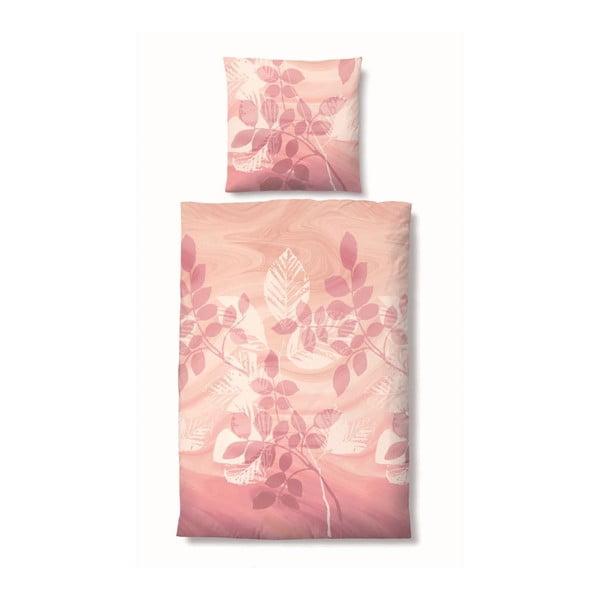 Pościel Edelflanell Nature Pink, 155x200 cm