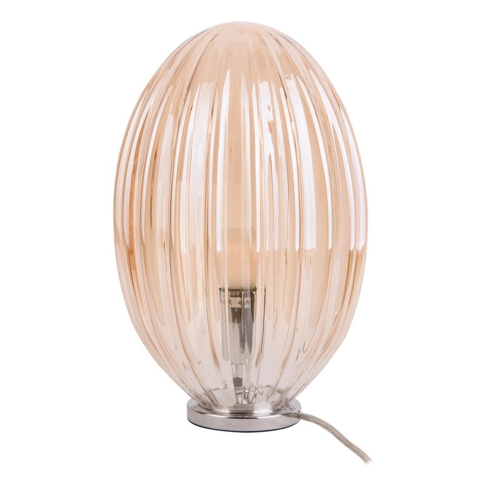 Brązowa lampa stołowa Leitmotiv Smart, wys. 31 cm