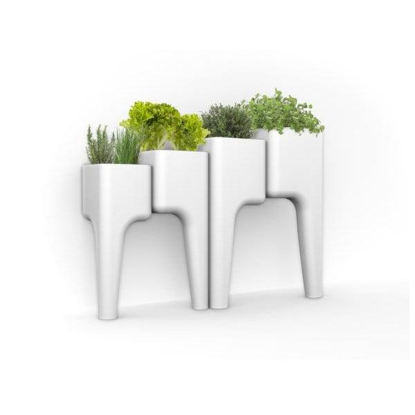 Designerska doniczka KIGA Medium 88x68 cm, biała