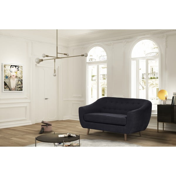 Czarna sofa dwuosobowa Jalouse Maison Vicky