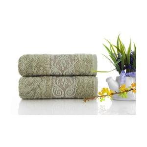 Zestaw 2 ręczników Bamboo Glory Green, 50x90 cm