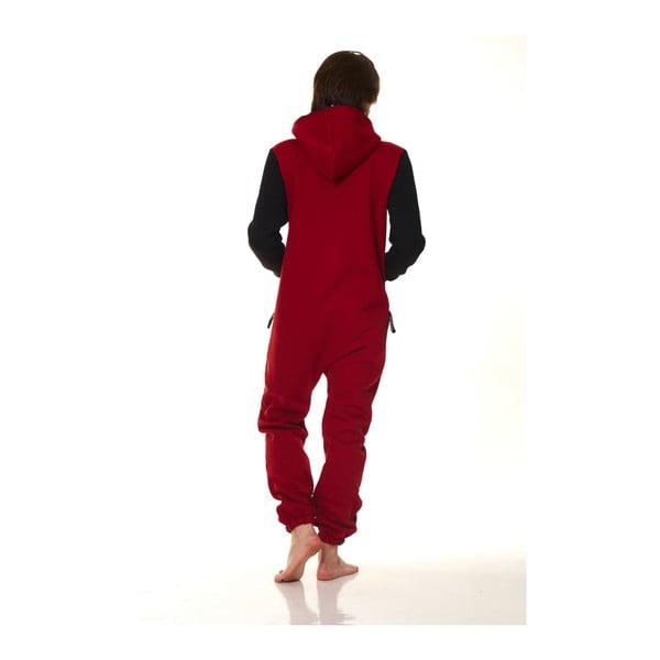 Czerwono-czarny kombinezon domowy Streetfly, rozm. L
