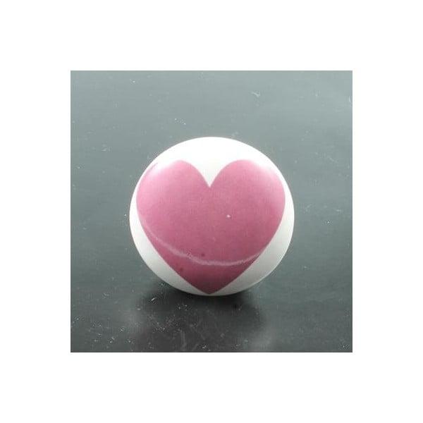 Gałka porcelanowa Pink Heart