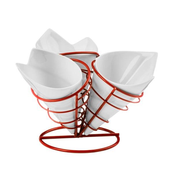Zestaw 3 foremek i stojaków na frytki Premier Housewares