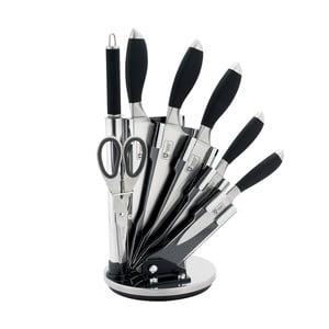7-częściowy komplet noży w stojaku Color, czarny