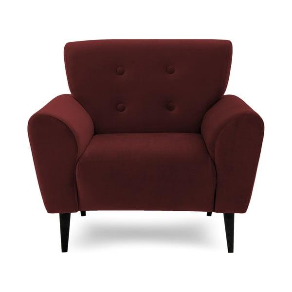 Bordowy fotel Vivonita Klara