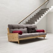 Sofa rozkładana Karup Indie Clear Lacquered/Gris/Light Bordeaux