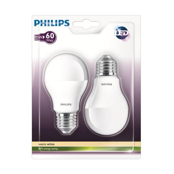 Żarówka LED Philips 60W E27 WW 230V A60 FR (2 ks)