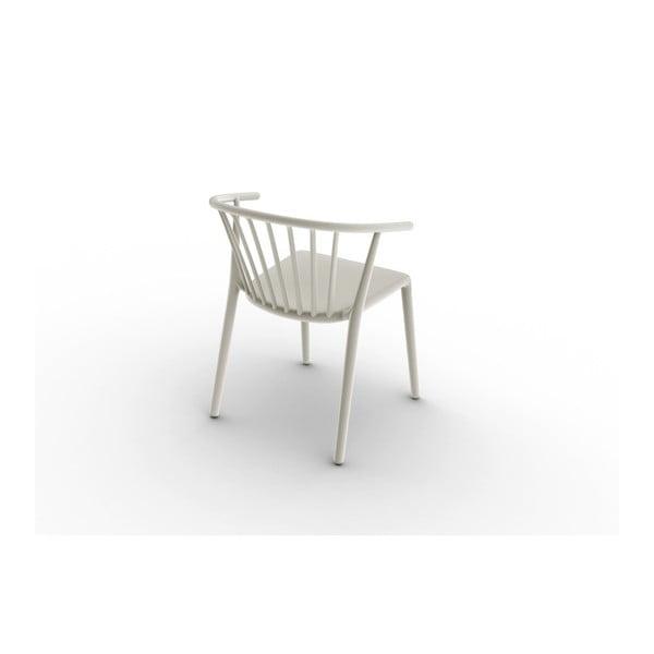 Zestaw 2 kremowych krzeseł ogrodowych Resol Woody