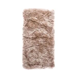 Jasnobrązowy dywan prostokątny z owczej skóry Royal Dream Zealand, 140x70cm