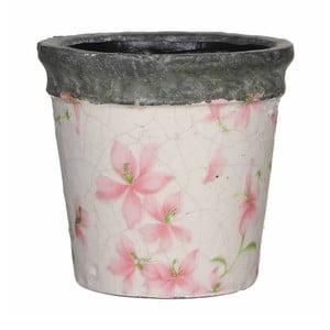 Doniczka w różowe wzory Mica Park, 11x12cm