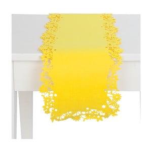Żółty bieżnik Clayre & Eef, 30x120 cm