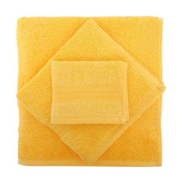 Zestaw 3 żółtych ręczników Rainbow