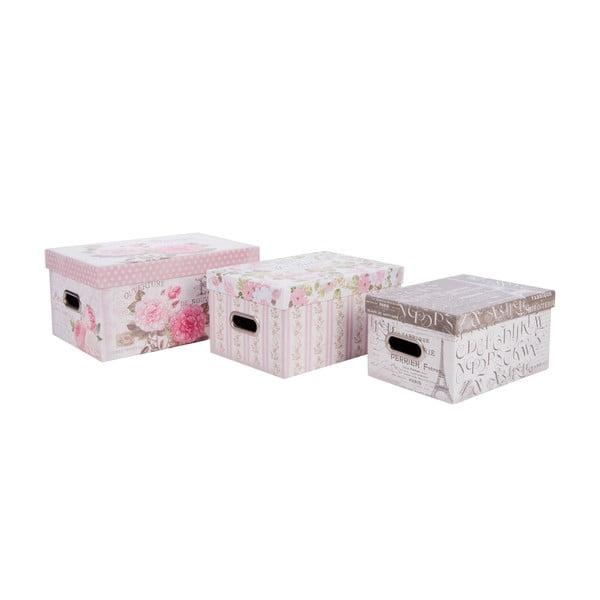 Zestaw 3 pudełek Romantic Roses