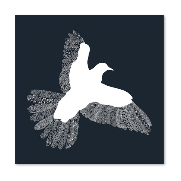 Plakat Bird Blue, 30x30 cm
