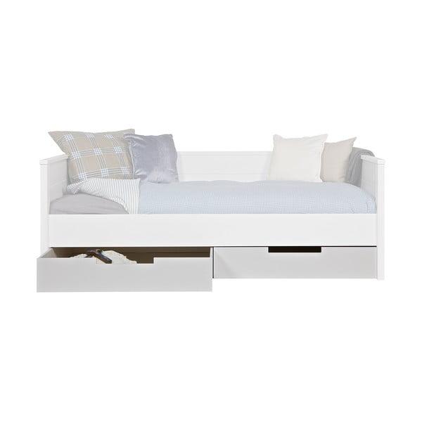 Biała szuflada pod łóżko Jade