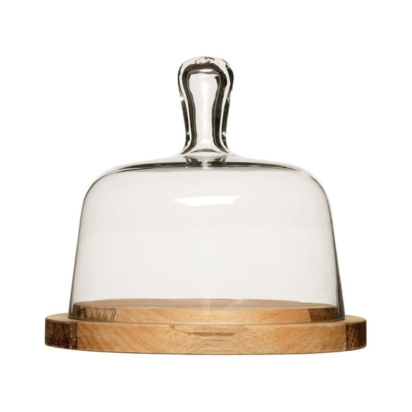Deska do serów ze szklanym kloszem Oval Sagaform