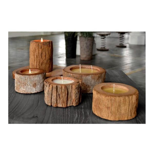 Palmowa świeczka Legno o zapachu wanilii i paczuli, 120 godzin palenia
