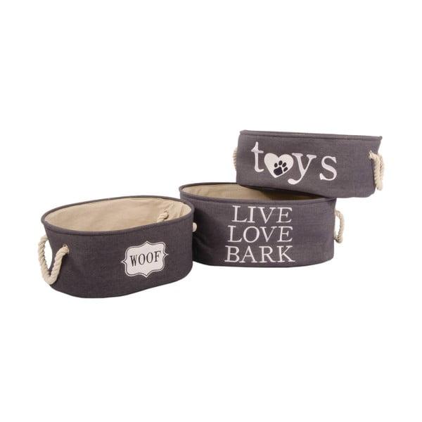 Zestaw 3 koszyków Live Love Bark