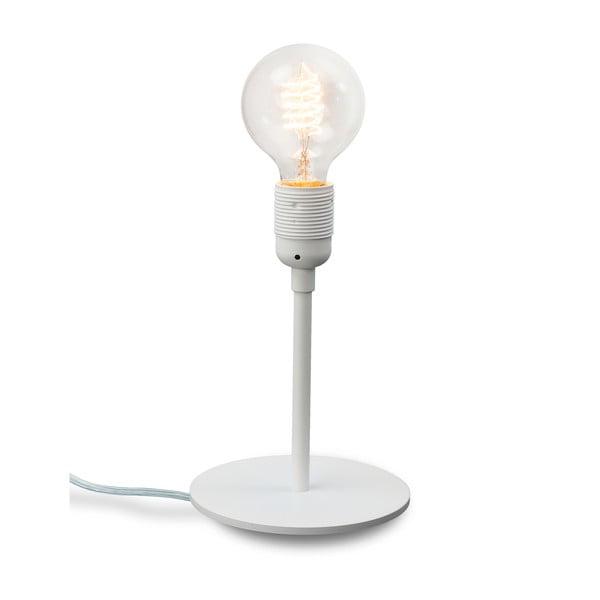 Biała lampka stołowa Sotto Luce BI Elementary 1T