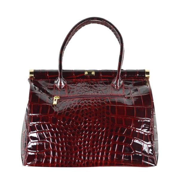 Skórzana torebka Justine, czerwona