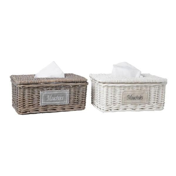 Zestaw 2 koszyków na chusteczki higieniczne Mouchoirs