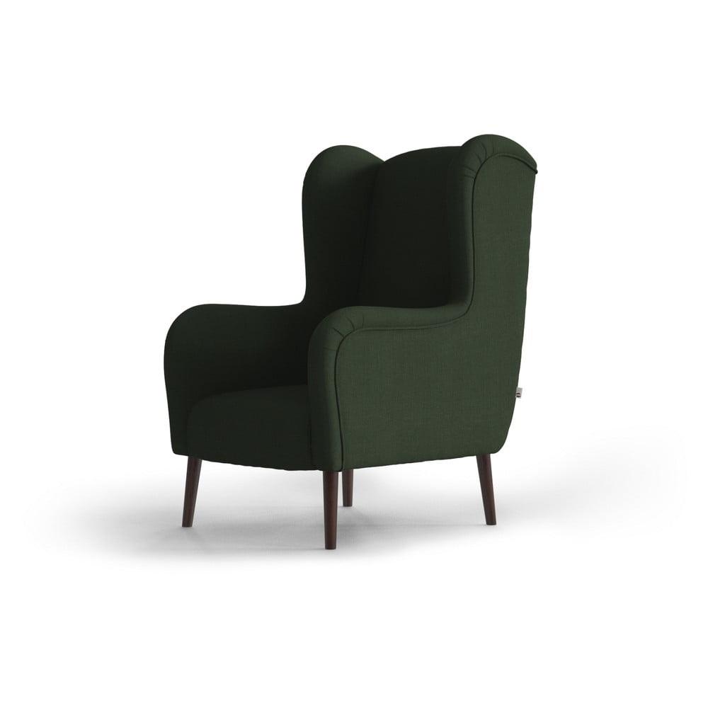 Zielony fotel uszak My Pop Design Muette