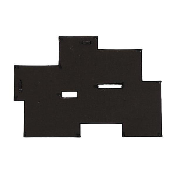 Zestaw połączonych sześciu ramek, czarny