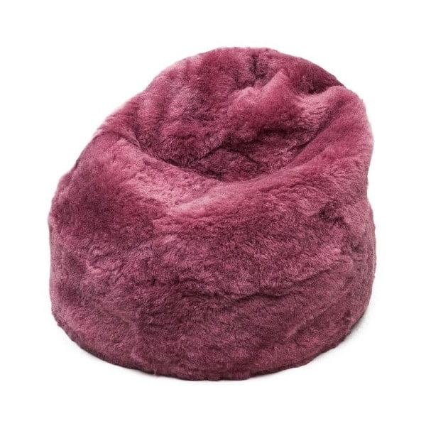 Futrzany worek do siedzenia Fuchsia