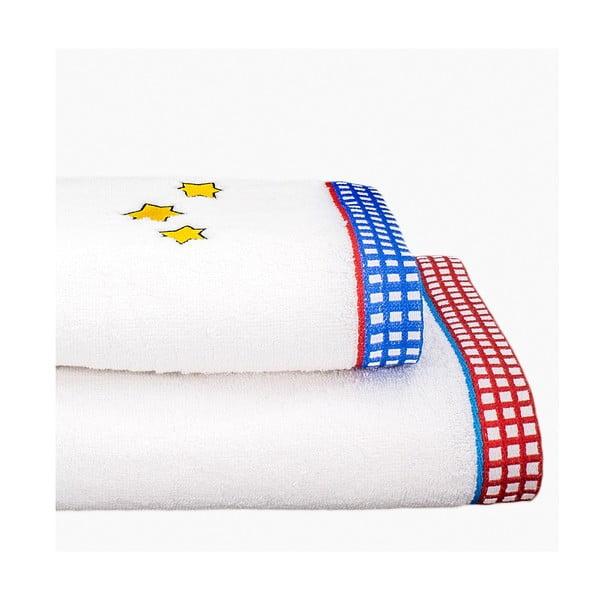 Zestaw 2 ręczników Space Rocket, 50x100 cm i 70x140 cm