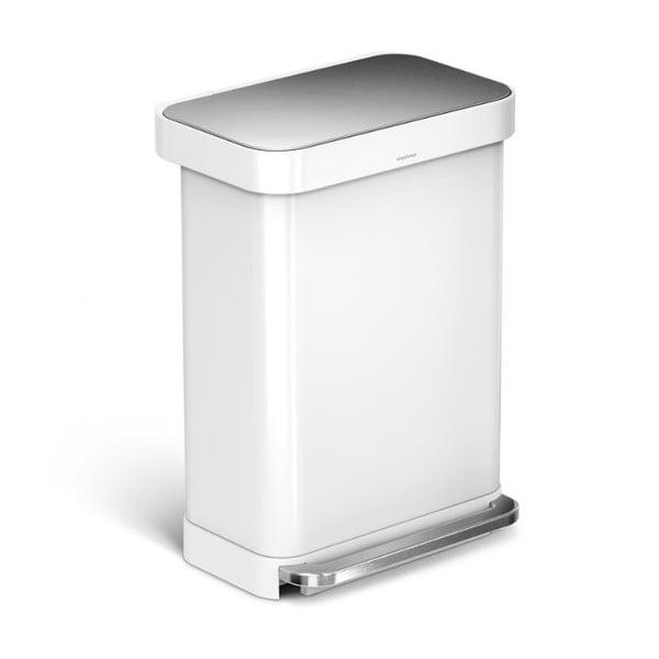 Kosz na śmieci simplehuman 55 l, biały