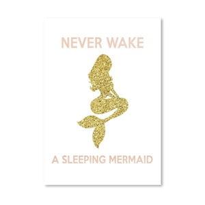 Plakat Americanflat Never Wake a Sleeping Mermaid, 30x42 cm