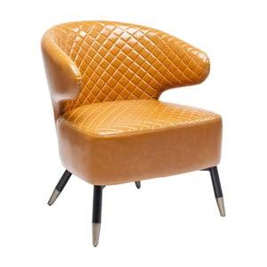 Pomarańczowy fotel ze skóry ekologicznej Kare Design Coctailsessel
