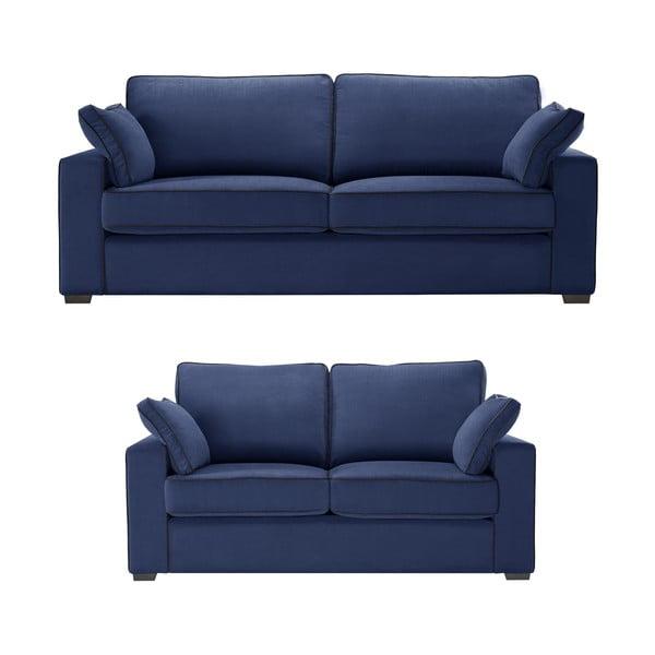 Dwuczęściowy komplet wypoczynkowy Jalouse Maison Serena, ciemnoniebieski