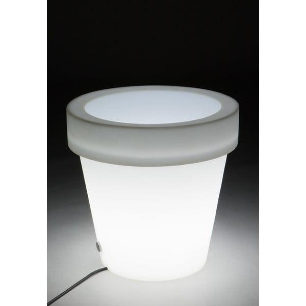 Biała  doniczka podświetlana Tomasucci Classic, Ø45cm