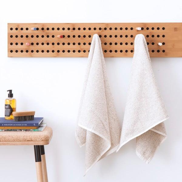 Komplet 2 kremowych ręczników Casa Di Bassi Stripe, 50 x 70 cm