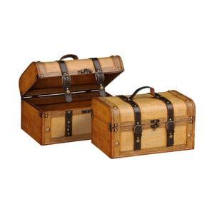 Zestaw 2 kuferków Storage