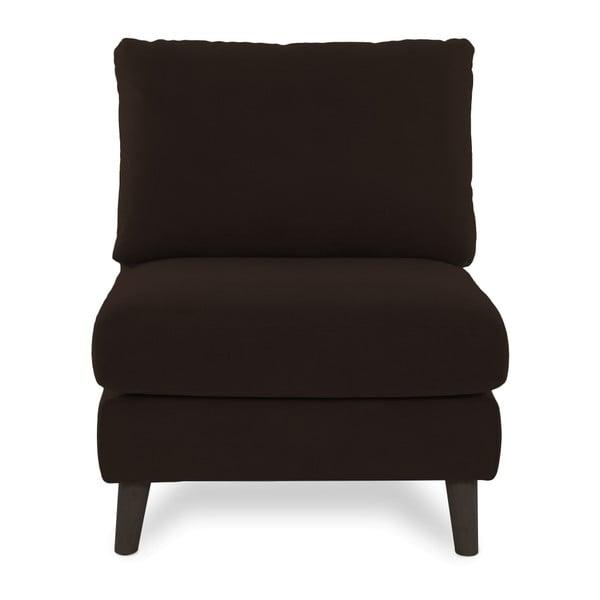 Ciemnobrązowy fotel z czarnymi nogami Vivonita Bill