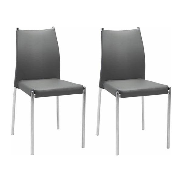 Zestaw 2 szarych krzeseł Støraa Zulu