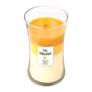 Świeczka zapachowa WoodWick Trilogy Tropical Owoce lata, 130 godz. palenia