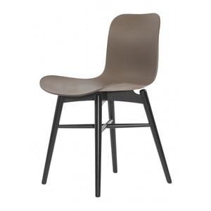 Brązowe krzesło do jadalni NORR11 Langue Dark