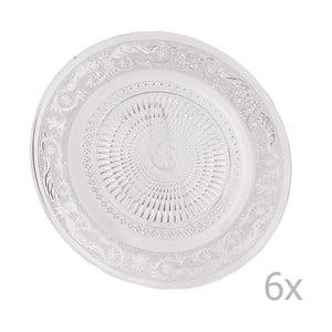 Zestaw 6 szklanych talerzy Clayre, 25 cm