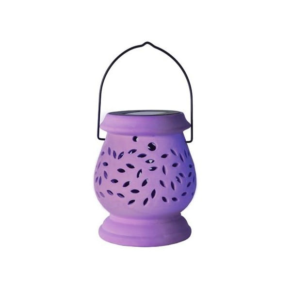 Lampion ogrodowy LED Clay Lilac