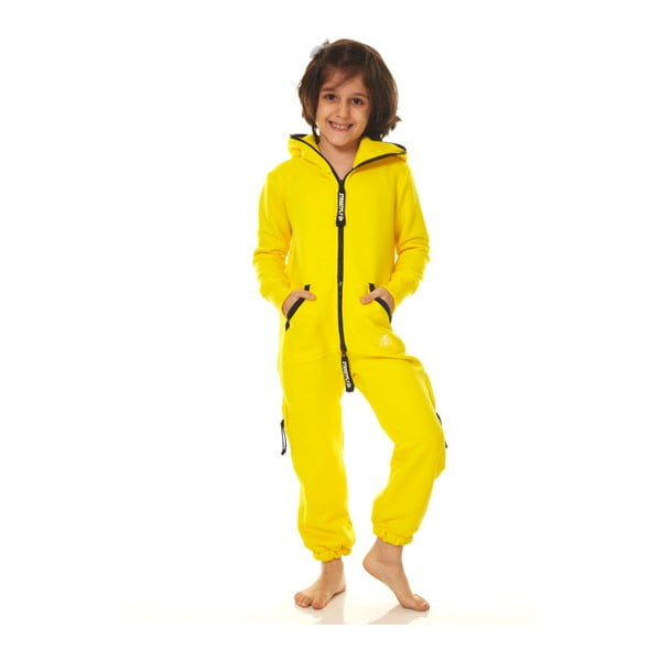 Żółty dziecięcy kombinezon domowy Streetfly, 6-7 lat