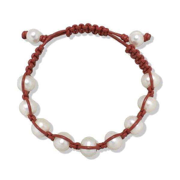 Ciemnoczerwona bransoletka perłowa Nova Pearls Copenhagen Mara de Vida