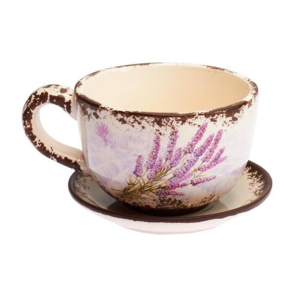Kubek z podstawką Lavender Vintage
