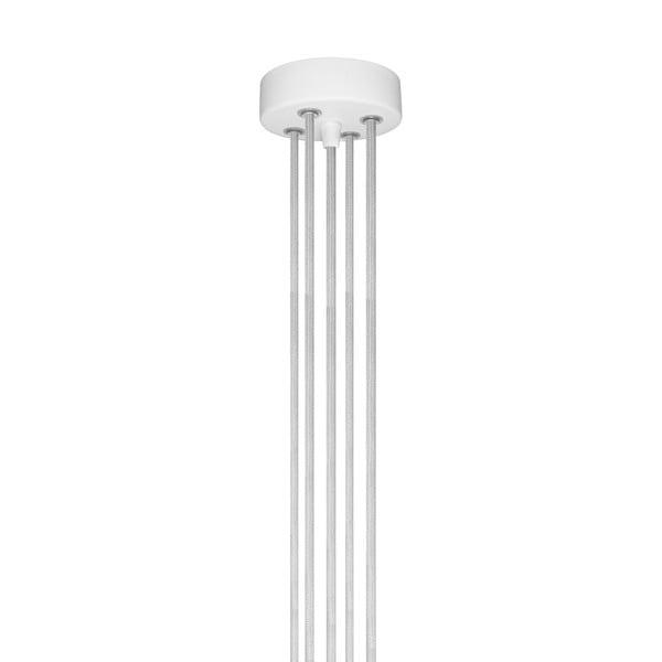 Miedziano-biała pięcioramienna lampa wisząca Bulb Attack Uno
