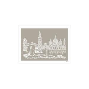 Plakat Venezia Brown&White, 50x70 cm